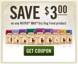 graphic about Nutro Dog Food Coupons Printable named Friday Discover: Nutro MAX® Puppy Meals Coupon - Grouchy Puppy® Website