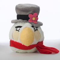 White Bird in Hat and Scarf